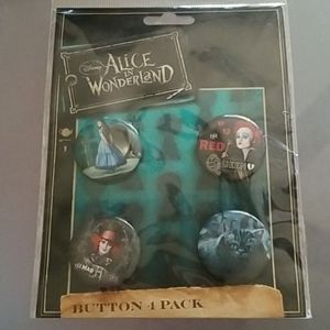 Loungefly NIP Alice in wonderland buttons